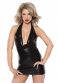 Alluring Kitten Dress - Black