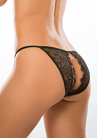 Enchanted Belle Panty ( Crotchless ) - Black