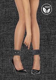 Denim Ankle Cuffs - Roughend Denim Style - Black