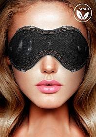Denim Eye Mask - Roughend Denim Style - Black