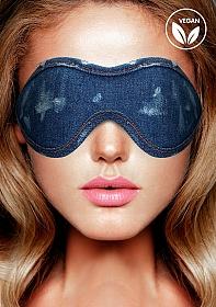 Denim Eye Mask - Roughend Denim Style - Blue