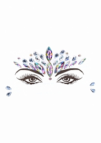 Dazzling Crowned Face Bling Sticker