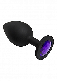 Booty Bling - Spade Large - Purple -Jeweled Wearable Silicone Pl