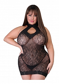 Captivate Plus Size Mini Dress One Size Queen - Black