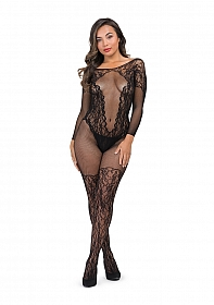 Captivate Bodystocking One Size - Black