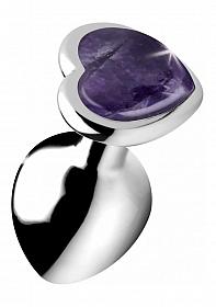 Gemstones Amethyst Heart Medium Anal Plug