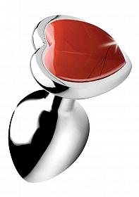 Gemstones Red Jasper Heart Small Anal Plug