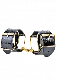 Fetish Fantasy Gold Cuffs - Black