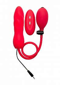 Inflatable Vibrating Silicone Twist - Red