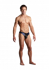 Zipper Thong - Blue / Black