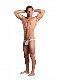 Mini Pouch Thong - White