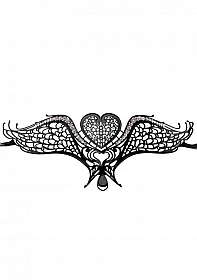 Swan Masquerade Mask - Black