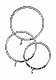 Solid Metal Scrotal Ring Set 3 Sizes