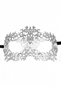 Forrest Queen Masquerade Mask - Silver