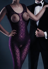 Zarah Bodystocking - Purple - One Size