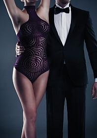 Giselle Halter Teddy - Purple - One Size