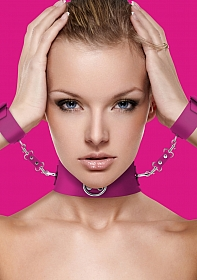Collar with Cuffs - Pink
