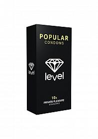 Level Popular Condoms - 10x