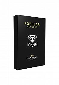Level Popular Condoms - 24x
