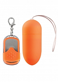 10 Speed Remote Vibrating Egg - Big - Orange