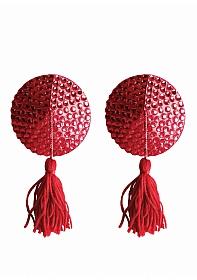 Nipple Tassels - Round - Red