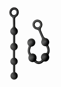 KINK - Solid Anal Balls - 100% Silicone - Black