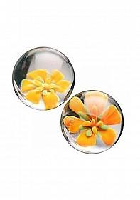 CyberGlass Ben Wa Balls - Yellow Blossom