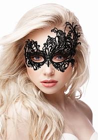Royal Black Lace Mask  - Black
