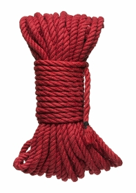 6mm Hemp Bondage Rope - 50 Ft. Red