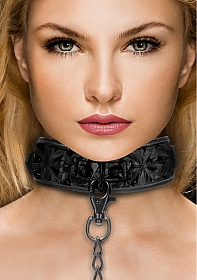 Luxury Collar with Leash - Black