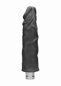 10� / 25 cm Realistic Vibrating Dildo - Black