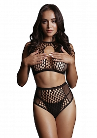 Duo Net Key-Hole Bra Set