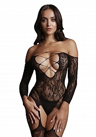Criss Cross Neck Bodystocking