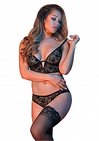 Underwire Bralette & Panty Set - Black