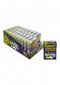 Cannabis Blueberry Haze Chewing Gum - 24 grams - 20 Piece Displa