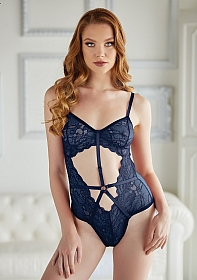 Lace and Mesh Teddy - Blue