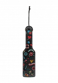 Printed Paddle - Old School Tattoo Style - Black
